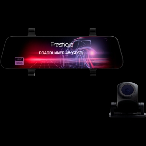 Prestigio RoadRunner 450GPSDL, 9.66'' IPS (1280x320) 2.5D curved touch display