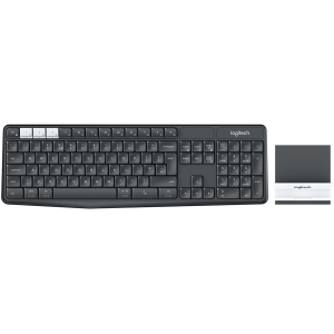 LOGITECH K375s Multi-Device Wireless Keyboard and Stand Combo - GRAPHITE