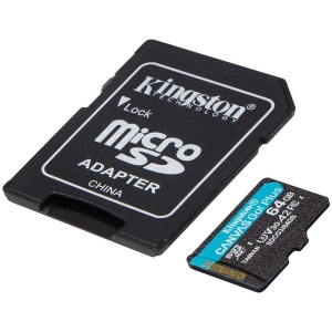 Kingston 64GB microSDXC Canvas Go Plus 170R A2 U3 V30 Card + ADP EAN: