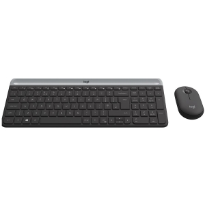 LOGITECH Slim Wireless Keyboard and Mouse Combo MK470 - GRAPHITE - RUS - 2.4GHZ