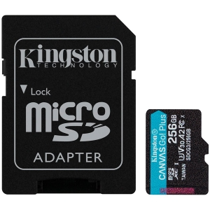 Kingston 256GB microSDXC Canvas Go Plus 170R A2 U3 V30 Card + ADP EAN: