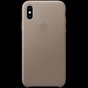 iPhone XS Leather Case - Taupe, Model