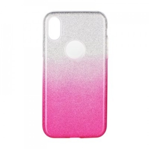 Forcell SHINING Case for SAMSUNG Galaxy A10S clear/pink