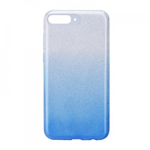 Forcell SHINING Case HUA Y7 Prime 2018 clear/blue