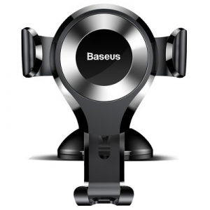 BASEUS car holder Osculum Type Gravity Car Mount Black-Silver