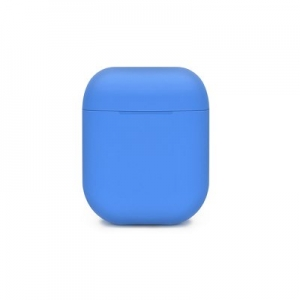SILICONE case for AirPods BOX blue