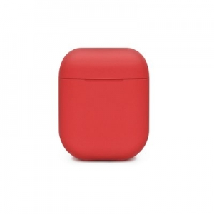 SILICONE case for AirPods BOX red