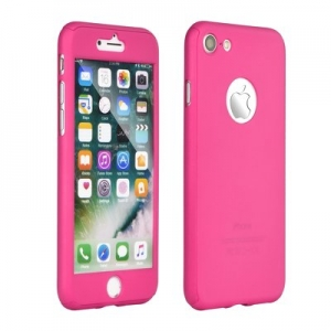 360 Full Body Case + Tempered Glass IPH 7 PLUS rose-gold