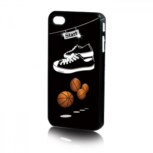 Silikona Maks Back case 3D Basketball for iPhone 4  5.39
