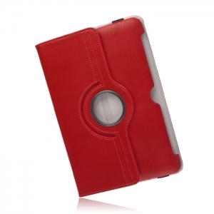 360 rotating PU case for iPad 2/3/4 red