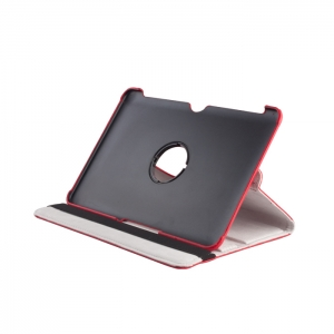 360 rotating PU case for Sam Tab 2 7`` red